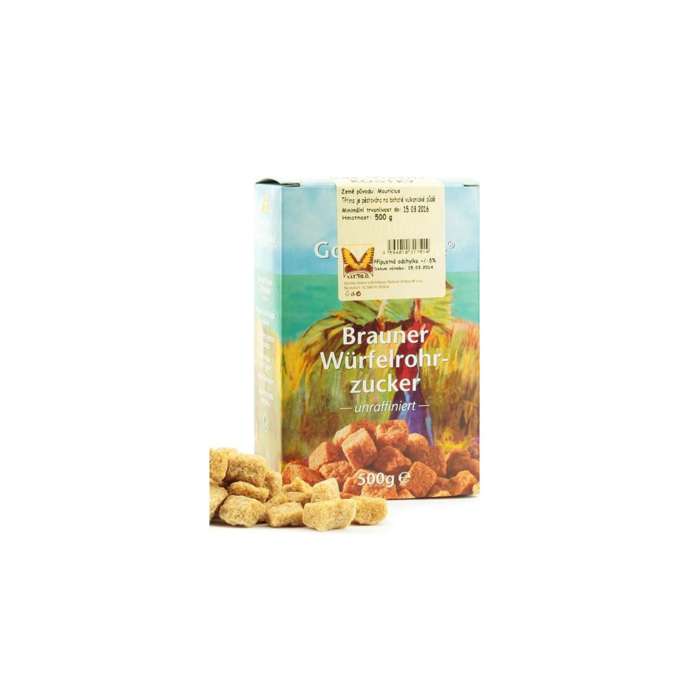 Cukr třtinový kostky - Natural 500g