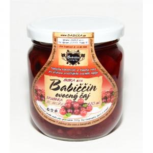 Babiččin ovocný čaj - brusinka se skořicí 420ml