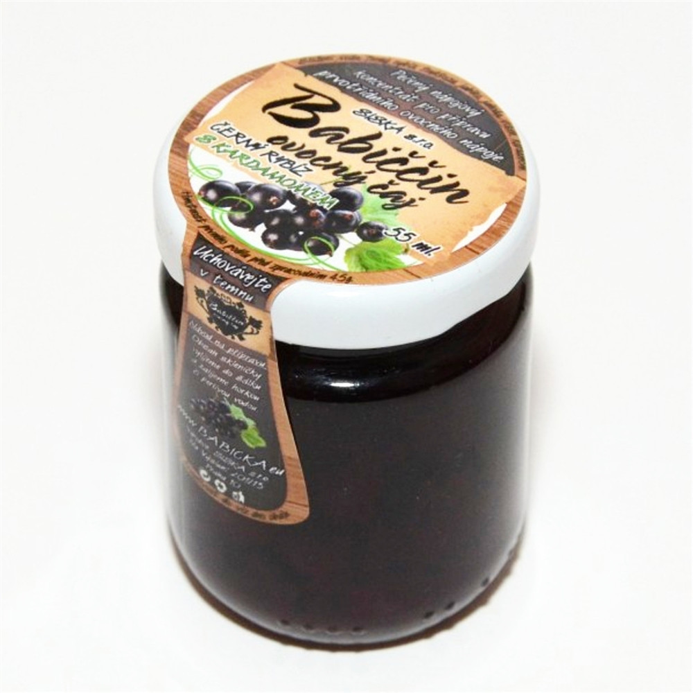 Babiččin ovocný čaj - černý rybíz s kardamonem 60ml
