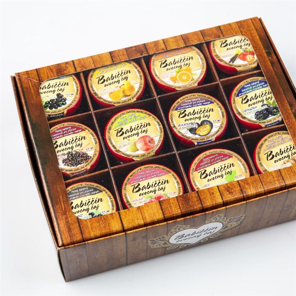 Babiččin ovocný čaj - dárkové balení 12ks