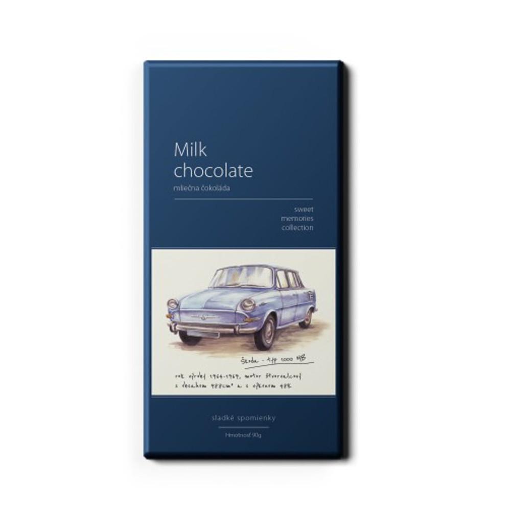 Čokoláda - MILK CHOCOLATE ŠKODA 1000MB 90g