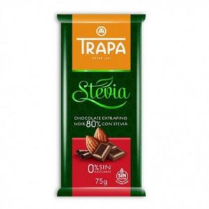 Hořká čokoláda se stévií (80%) - TRAPA 75g
