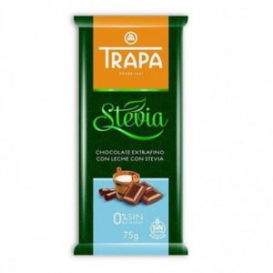 Mléčná čokoláda se stévií - TRAPA 75g