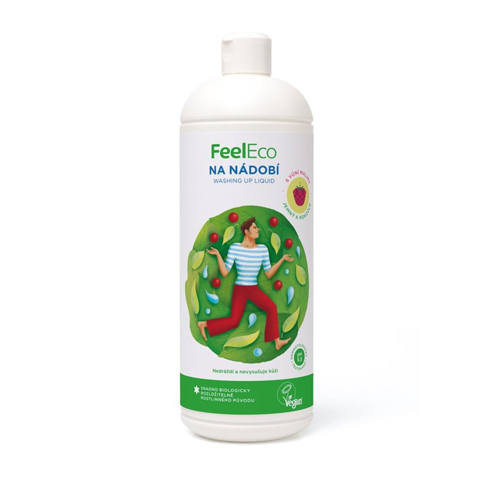 Prostředek na mytí nádobí - malina - Feel Eco 1000g