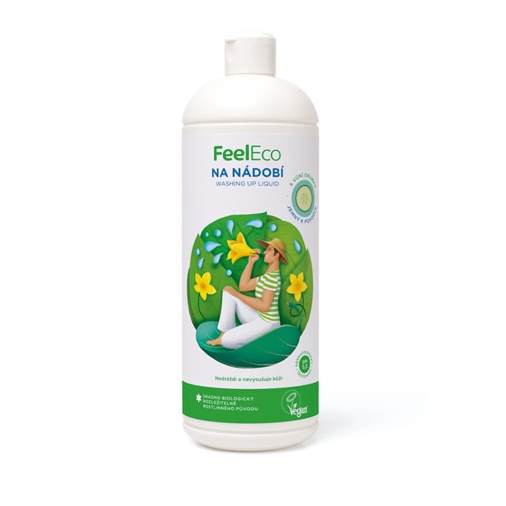 Prostředek na mytí nádobí - okurka - Feel Eco 1000ml