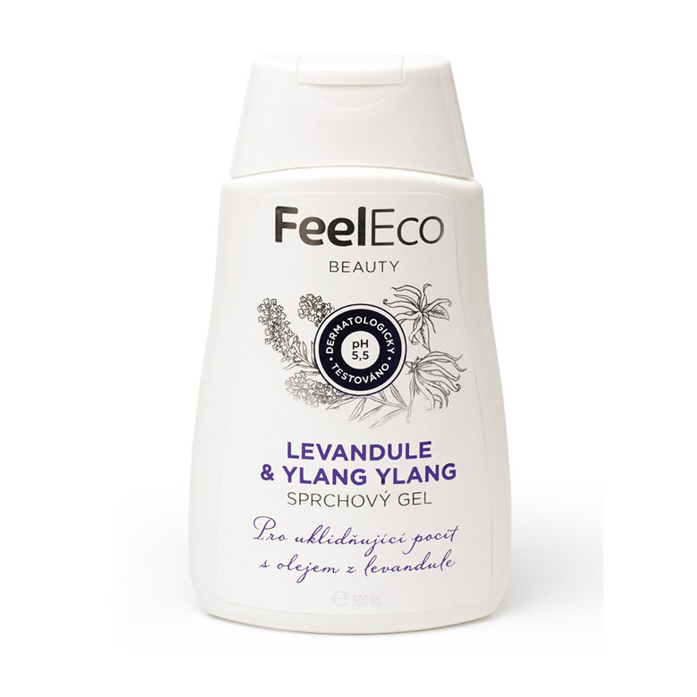Sprchový gel - levandule & Ylang-Ylang - Feel Eco 300ml