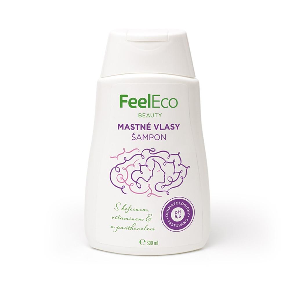 Vlasový šampon na mastné vlasy - Feel Eco 300ml
