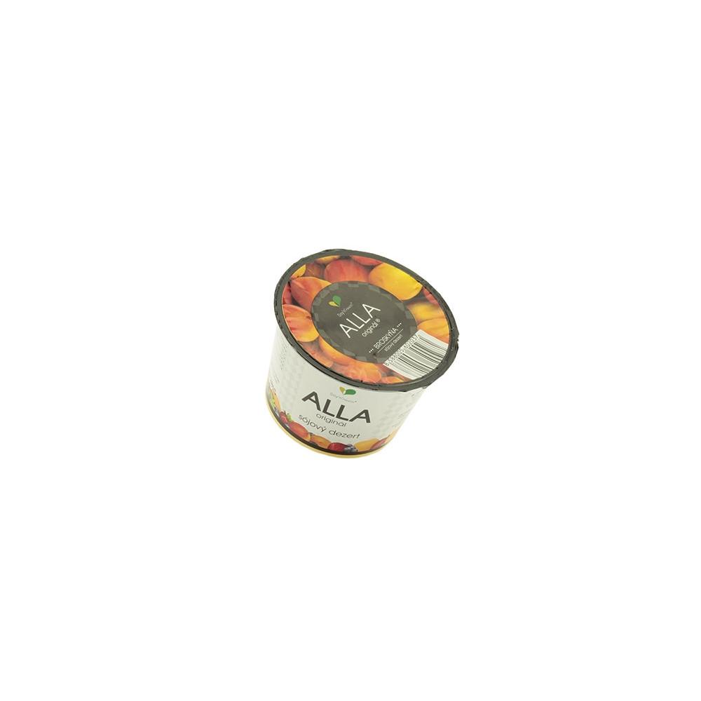 Alla - sójový dezert - broskev 125g