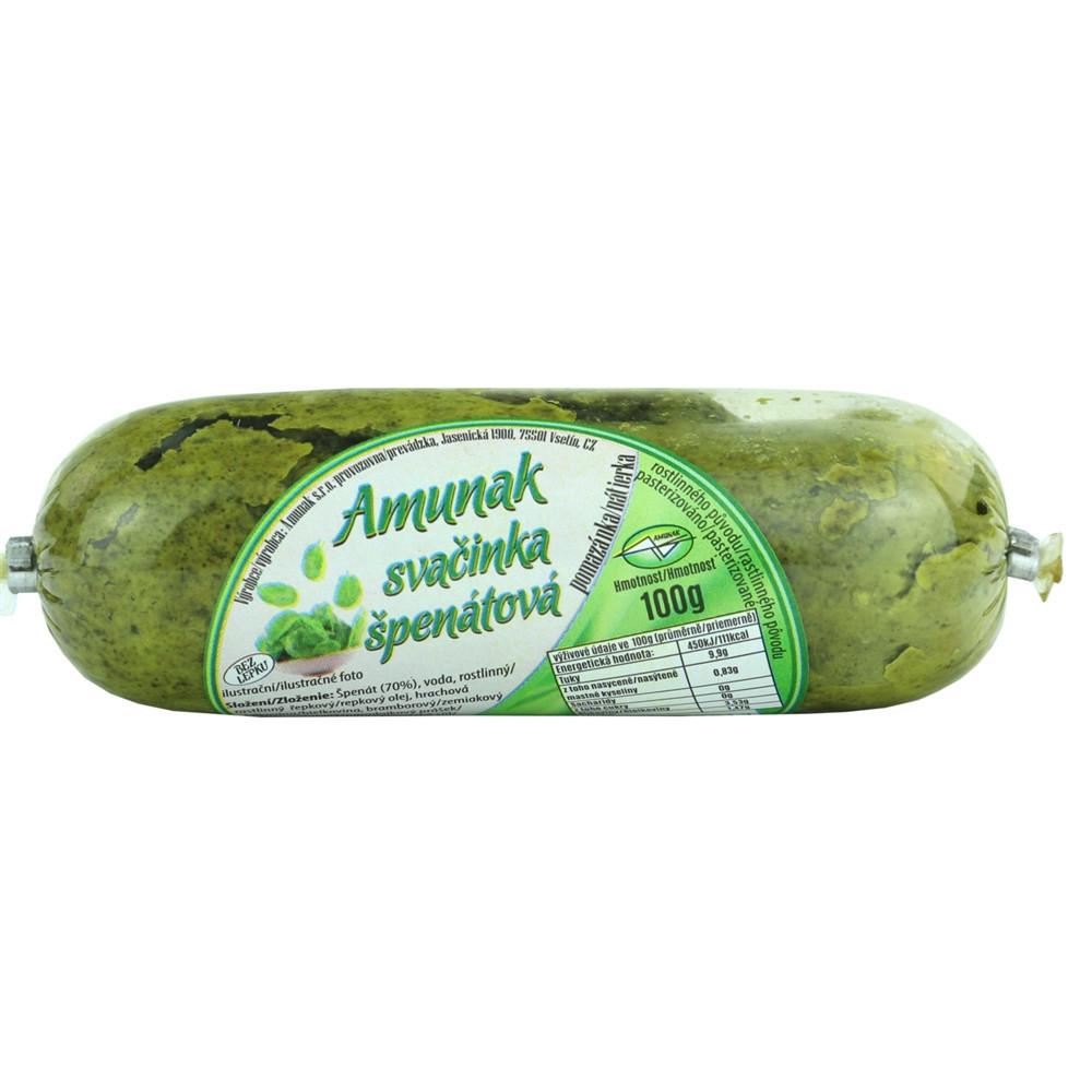 Amunak - svačinka špenátová 100g