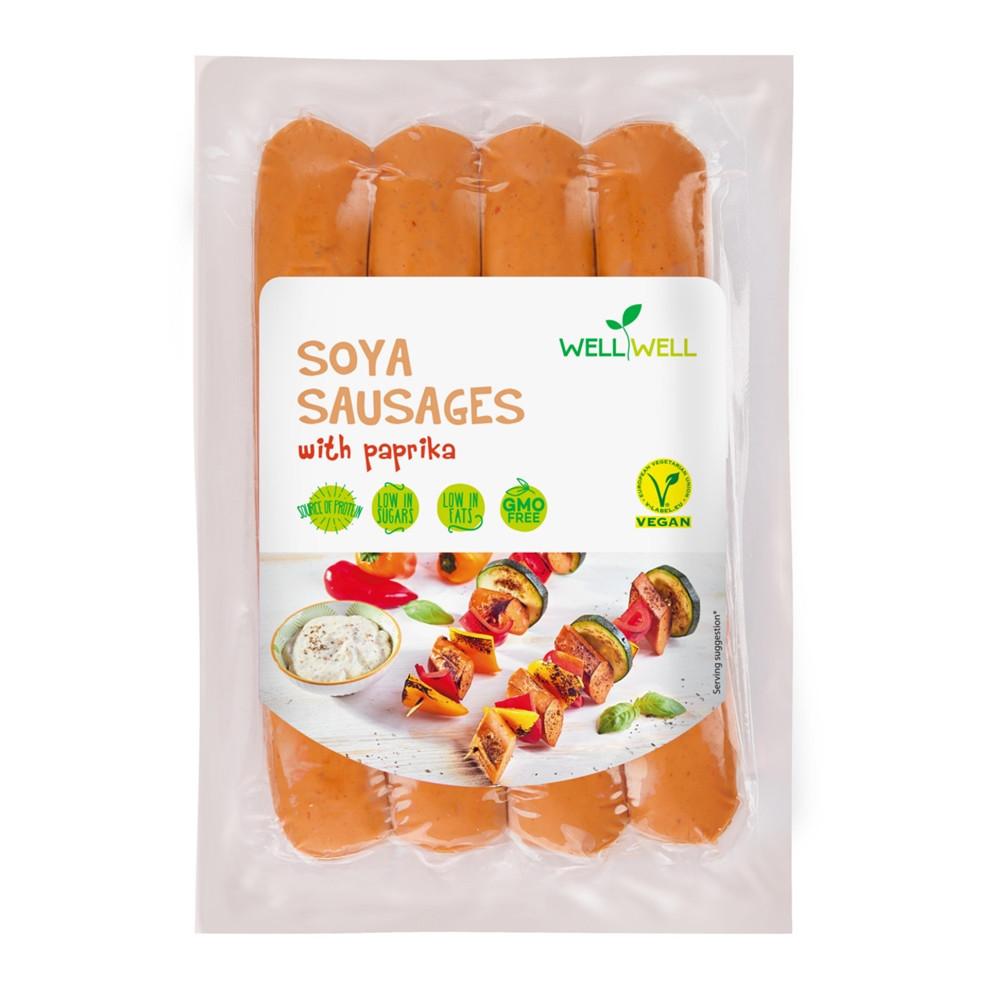 Sojové klobásy  s paprikou - WELLWELL 250g