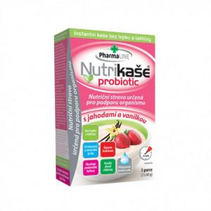 Nutrikaše probiotic s jahodami a vanilkou - Mogador 3x60g