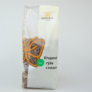 Křupavá rýže s kakaem bez lepku - Natural 300g