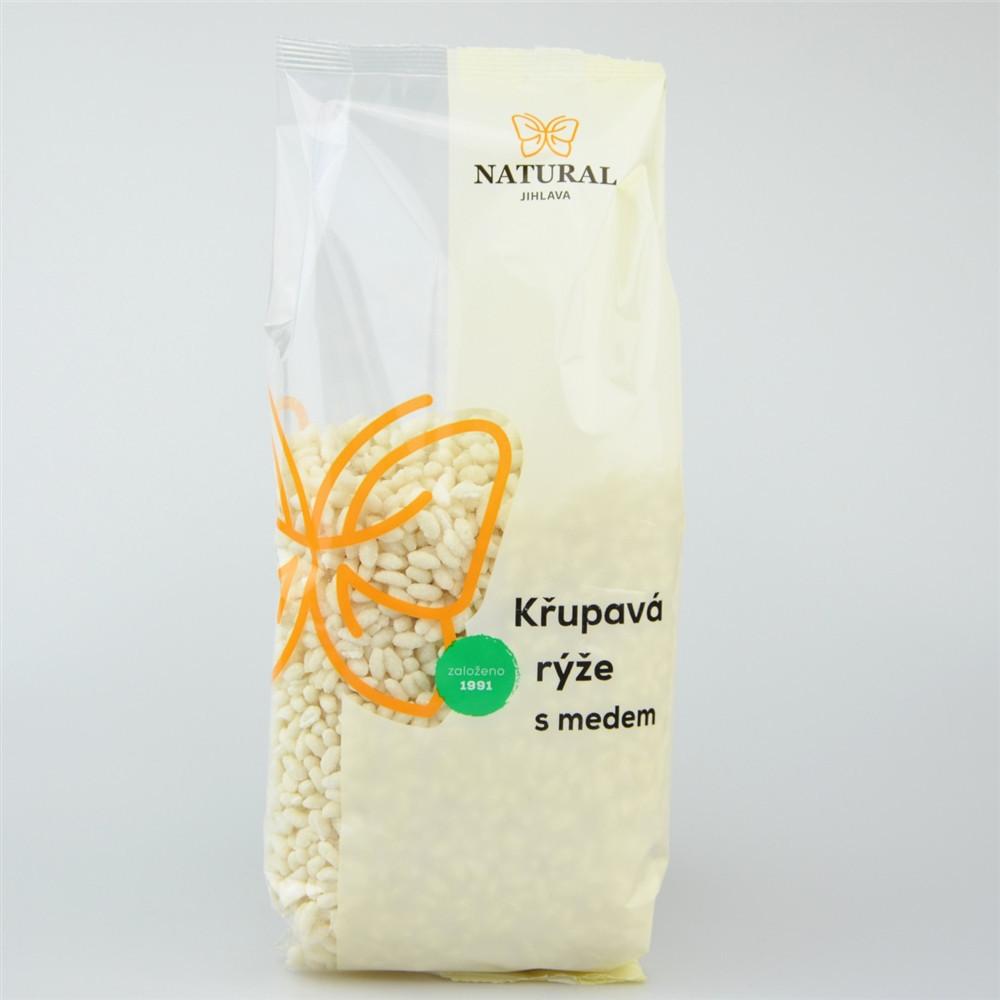 Křupavá rýže s medem bez lepku - Natural 300g