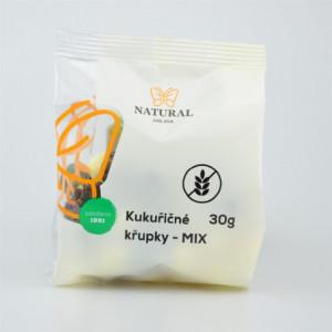 Křupky kukuřičné MIX - Natural 30g