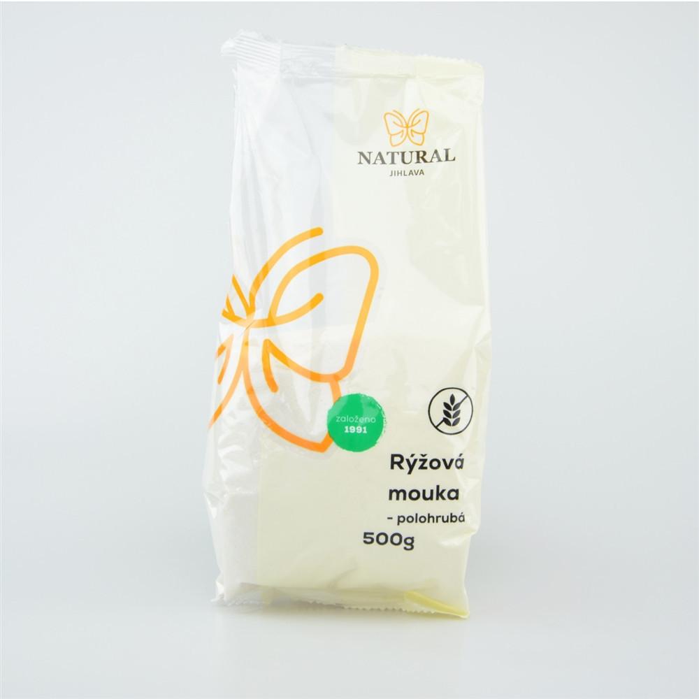 Mouka rýžová polohrubá - Natural 500g