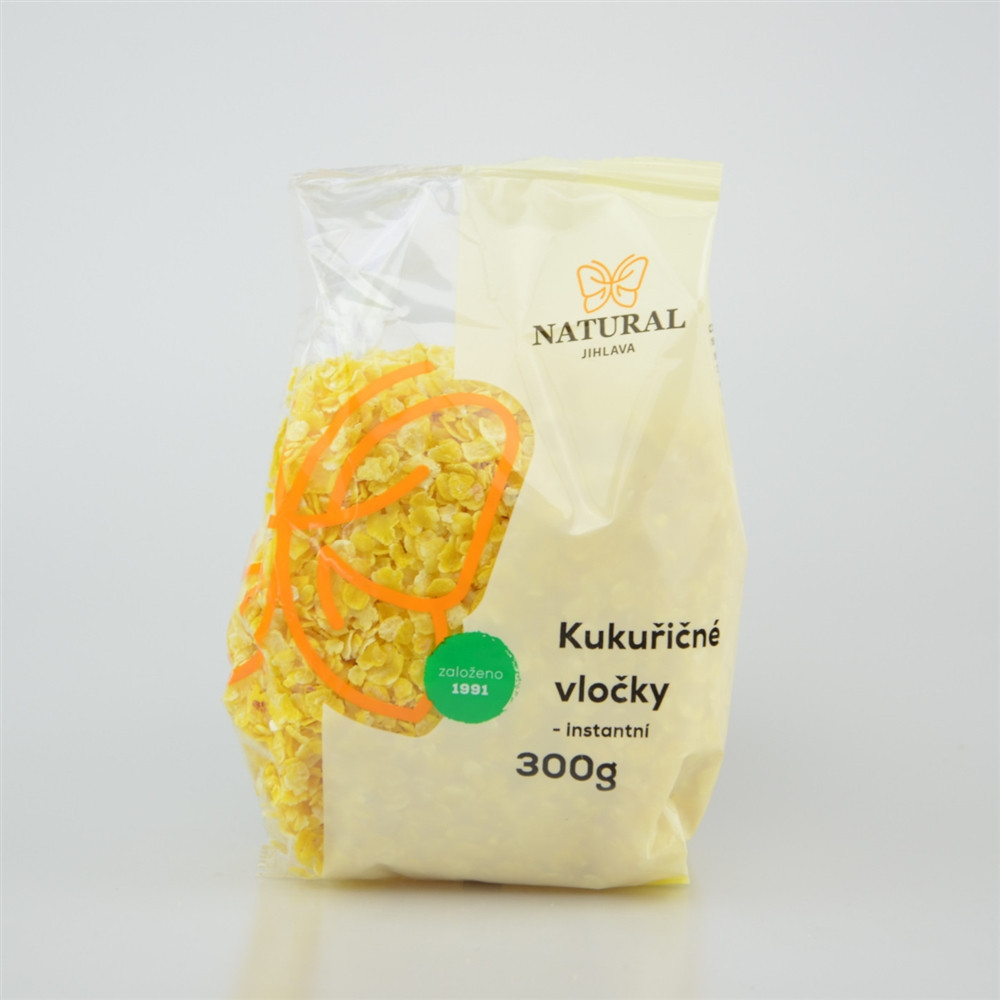 Vločky kukuřičné instantní - Natural 300g