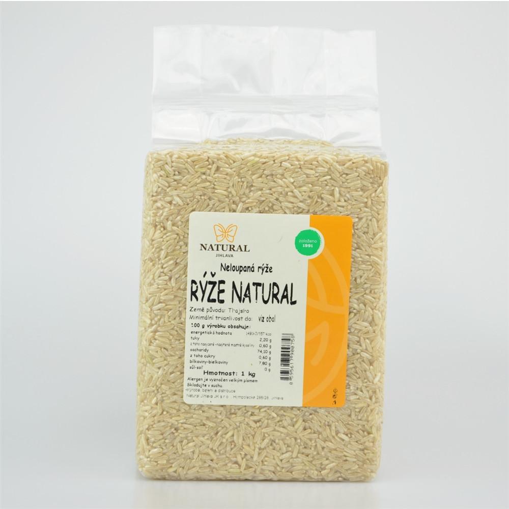 Rýže natural neloupaná - Natural 1kg
