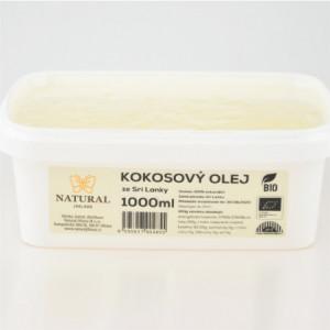 Olej kokosový BIO rafinovaný - Natural 1000ml