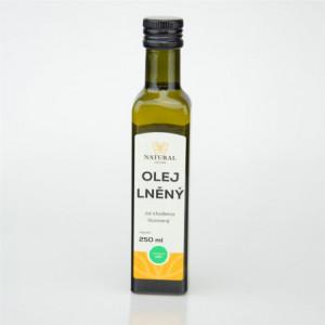 Olej lněný za studena lisovaný - Natural 250ml