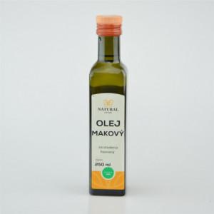 Olej makový za studena lisovaný - Natural 250ml