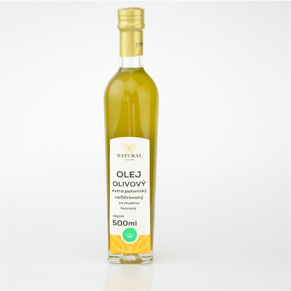 Olej olivový extra panenský nefiltrovaný - Natural 500ml