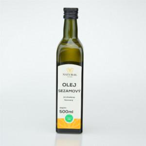 Olej sezamový za studena lisovaný - Natural 500ml