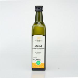 Olej slunečnicový za studena lisovaný - Natural 500ml