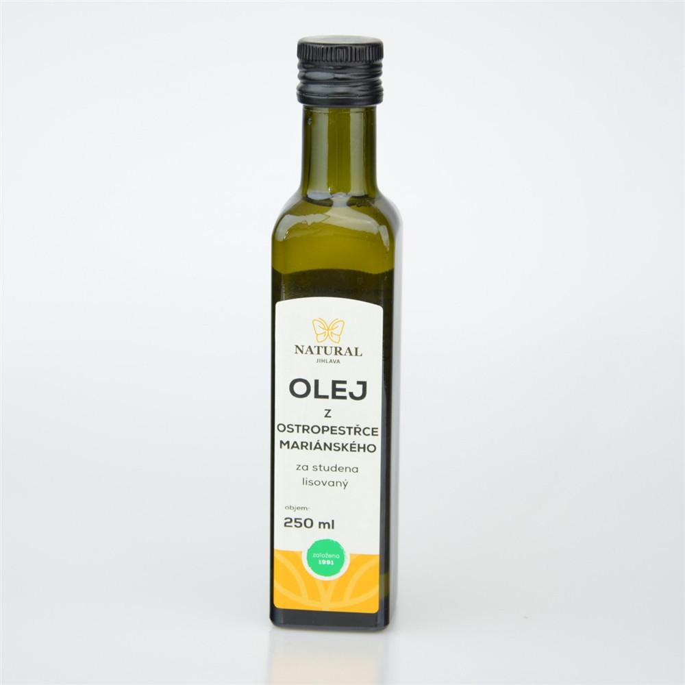 Olej z ostropestřce mariánského za studena lisovaný - Natural 250ml
