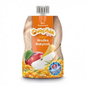 100% ovocné pyré Ovocňák jablko/hruška/rakytník 200g