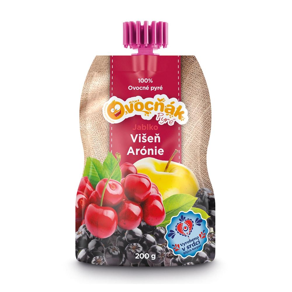 100% ovocné pyré Ovocňák jablko/višeň/arónie 200g