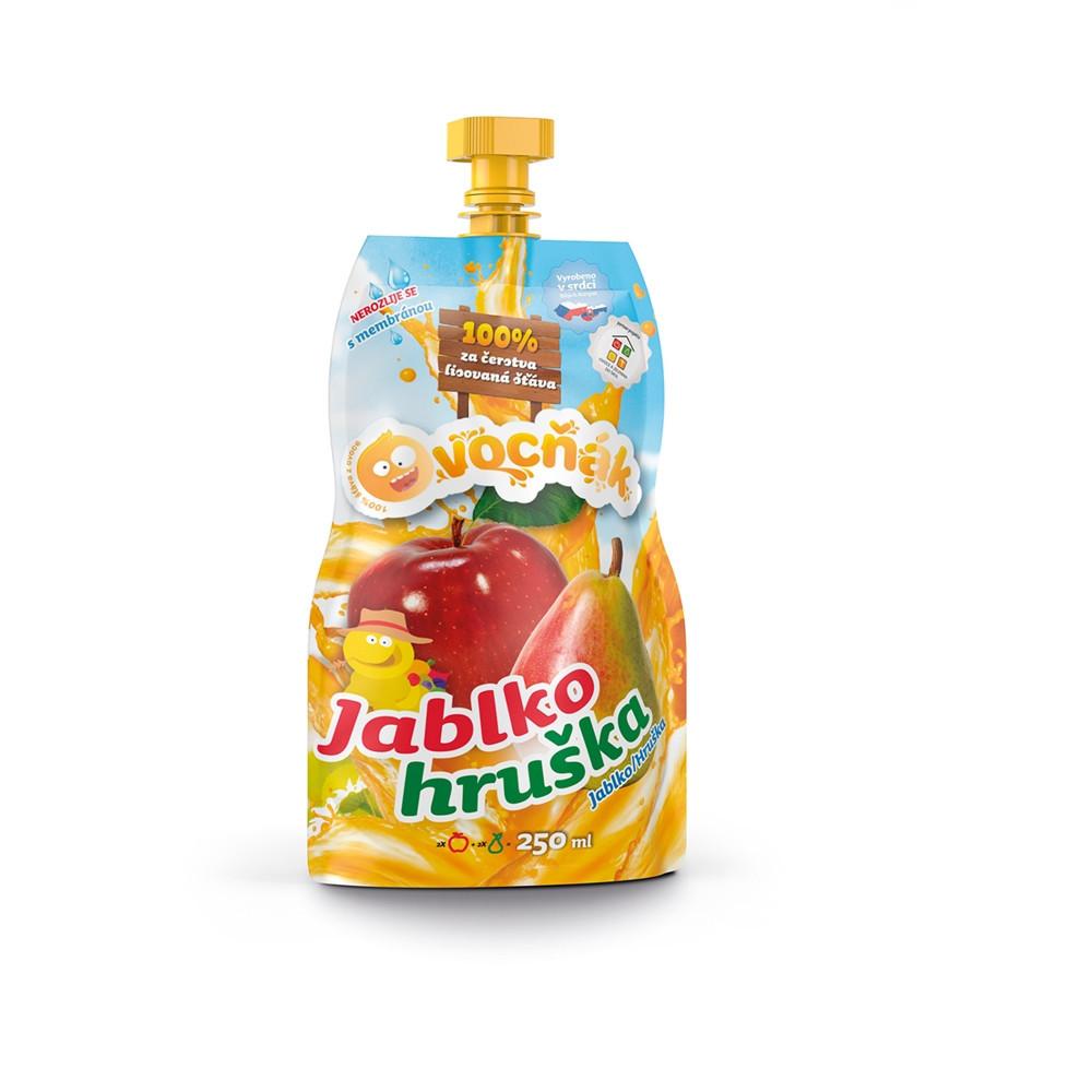 100% šťáva Ovocňák jablko/hruška 250ml