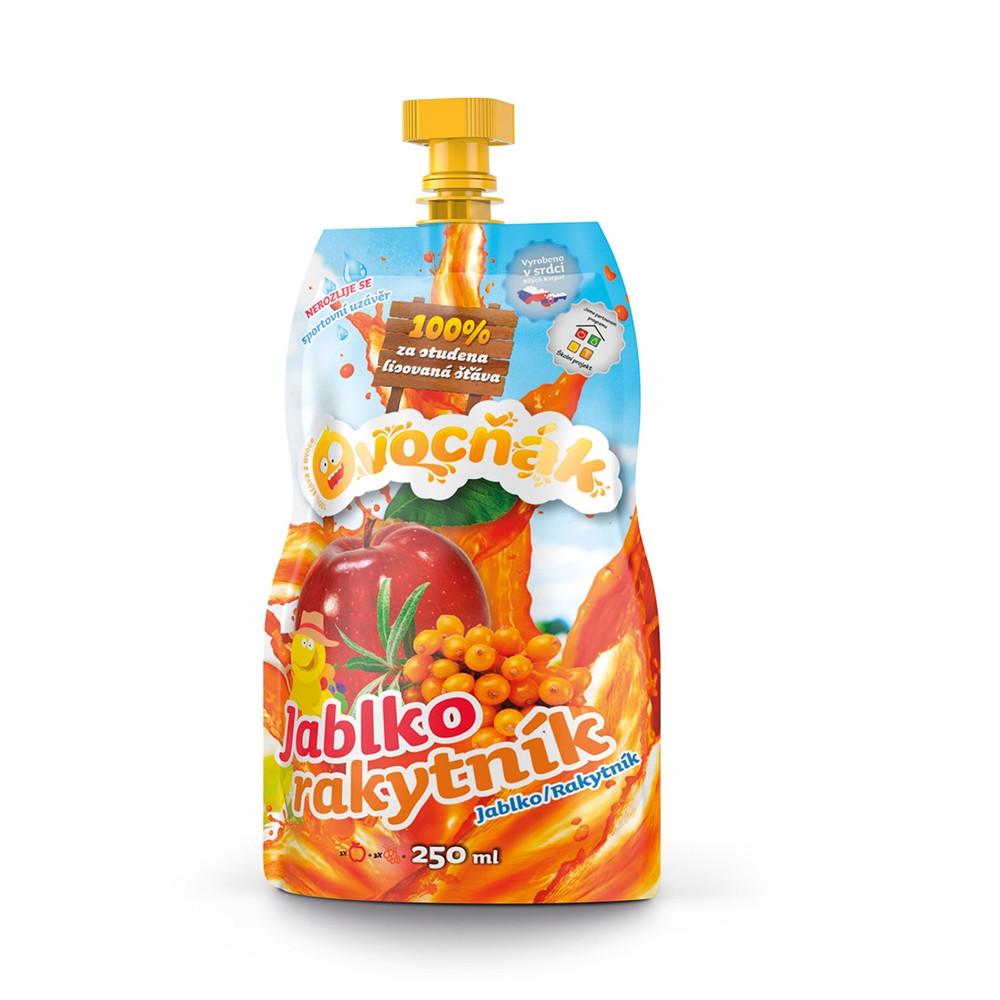100% šťáva Ovocňák jablko/rakytník 250 ml