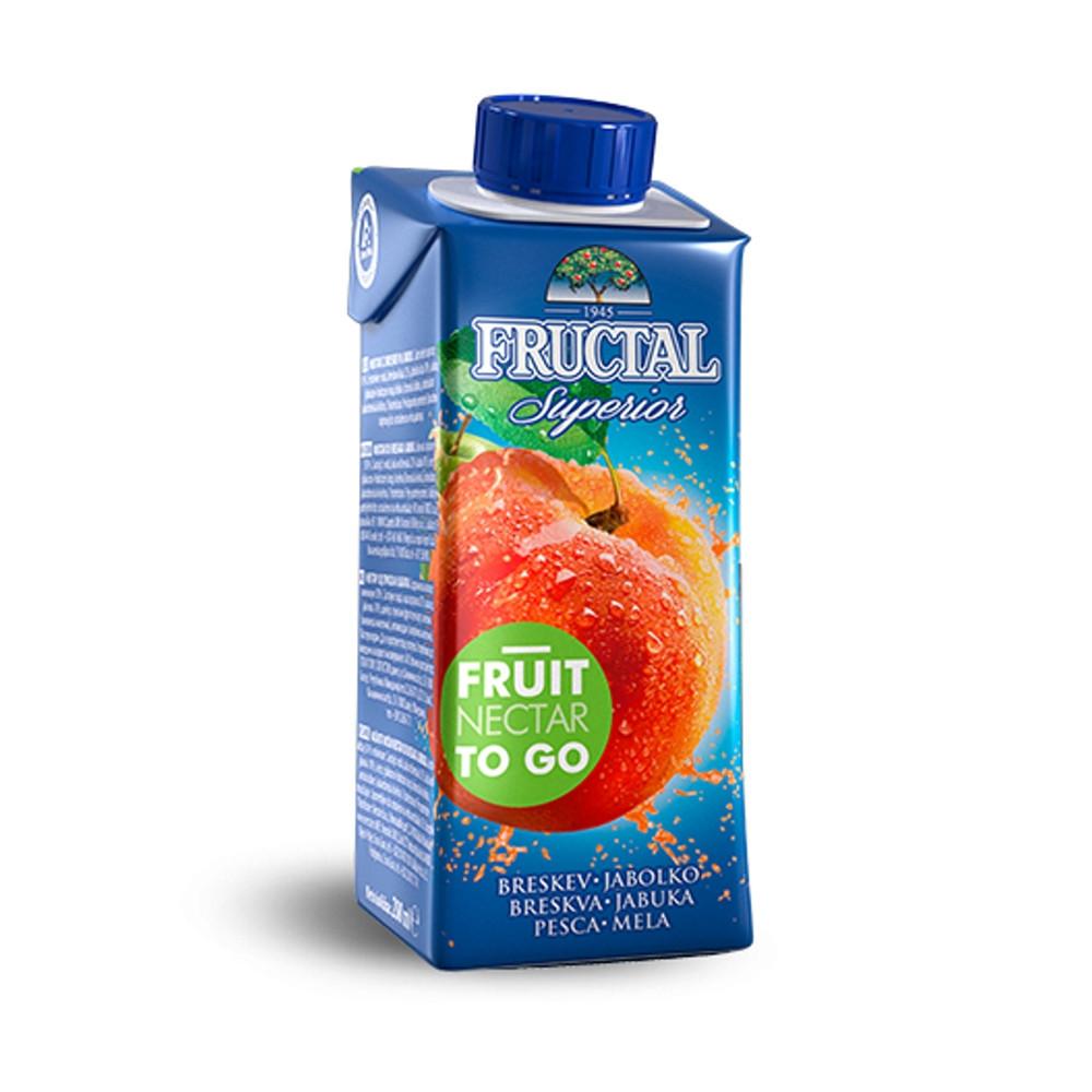 Nektar z broskví a jablek - Fructal 200ml