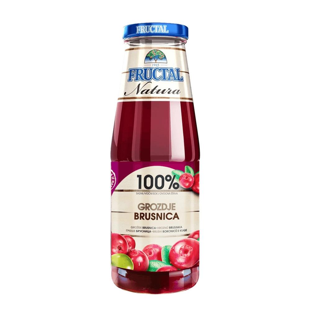 Šťáva z hroznů a brusinek - Fructal 700ml
