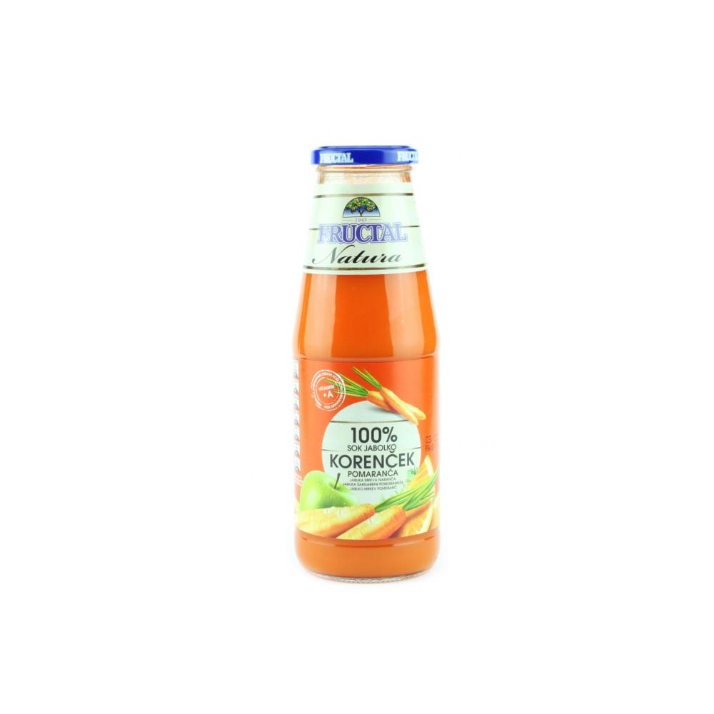 Šťáva z mrkve a jablek - Fructal 700ml