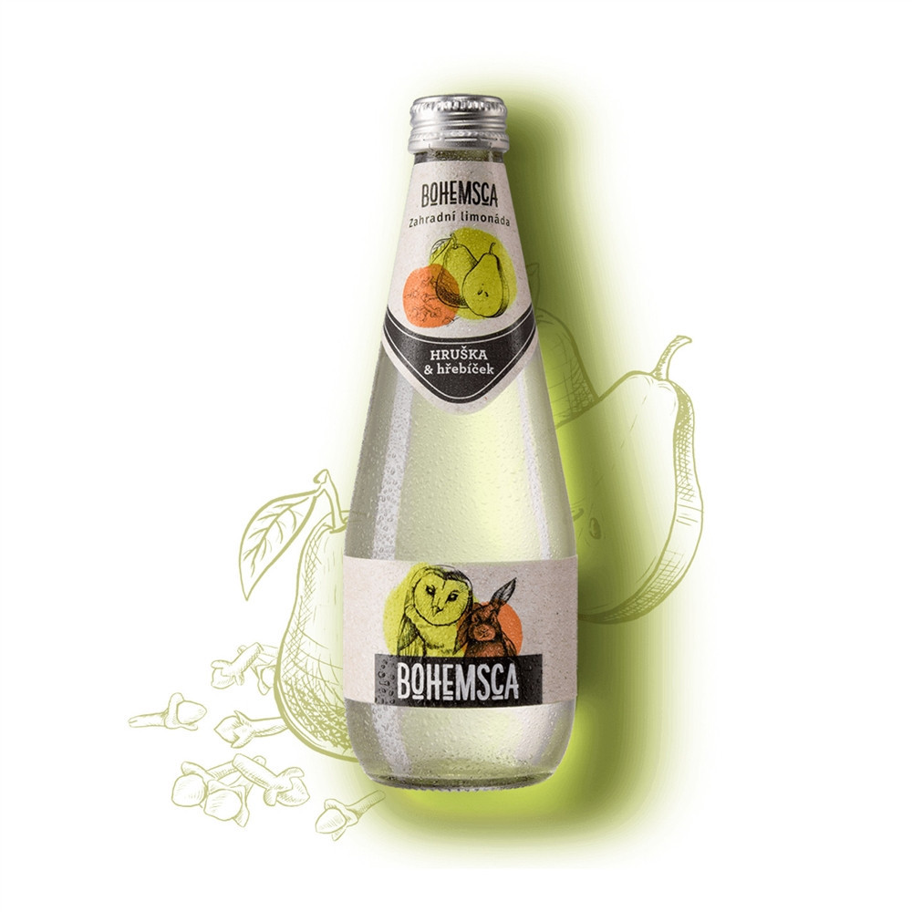Zahradní limonáda HRUŠKA & HŘEBÍČEK - Bohemsca 330ml