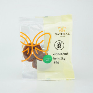 Jablečné kroužky bez lepku - Natural 25g
