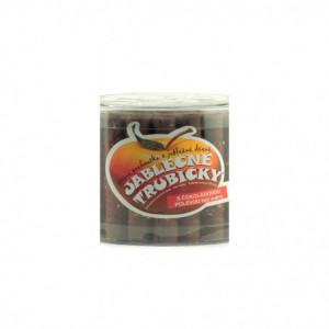 Jablečné trubičky BC s čokoládovou polevou bez cukru dóza - Trutna 450g