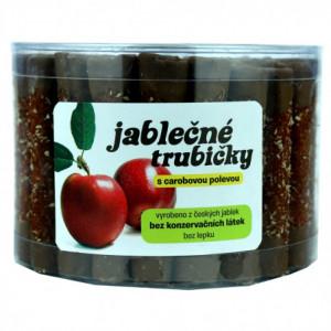 Jablečné trubičky s carobovou polevou dóza - Trutna 450g