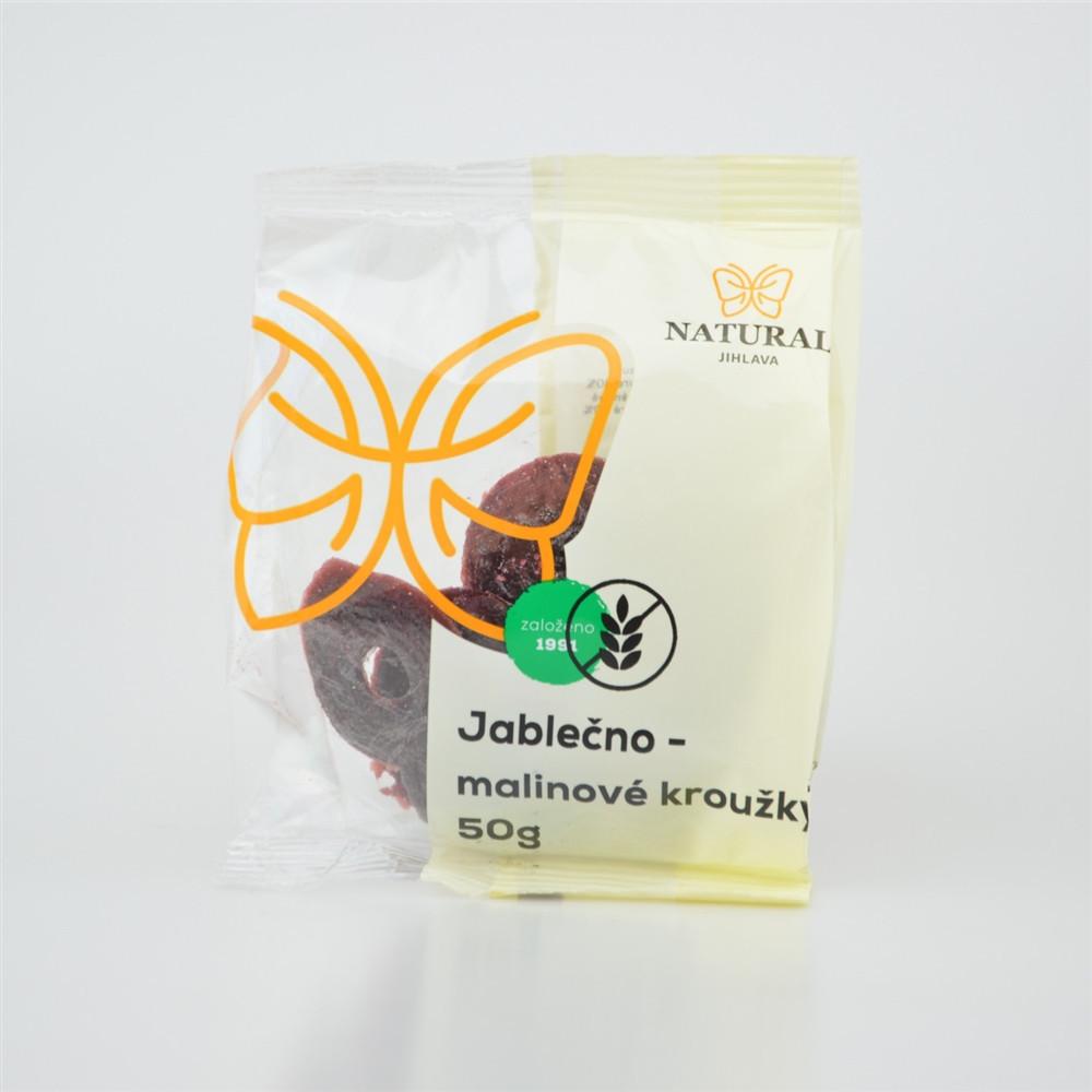 Jablečno - malinové kroužky bez lepku - Natural 50g