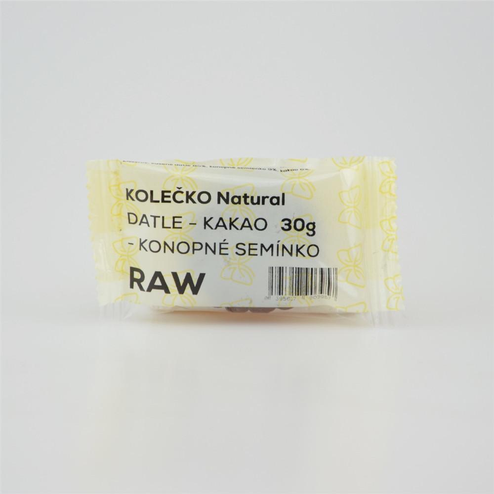 RAW kolečko datle - kakao - konopné semínko - Natural 30g