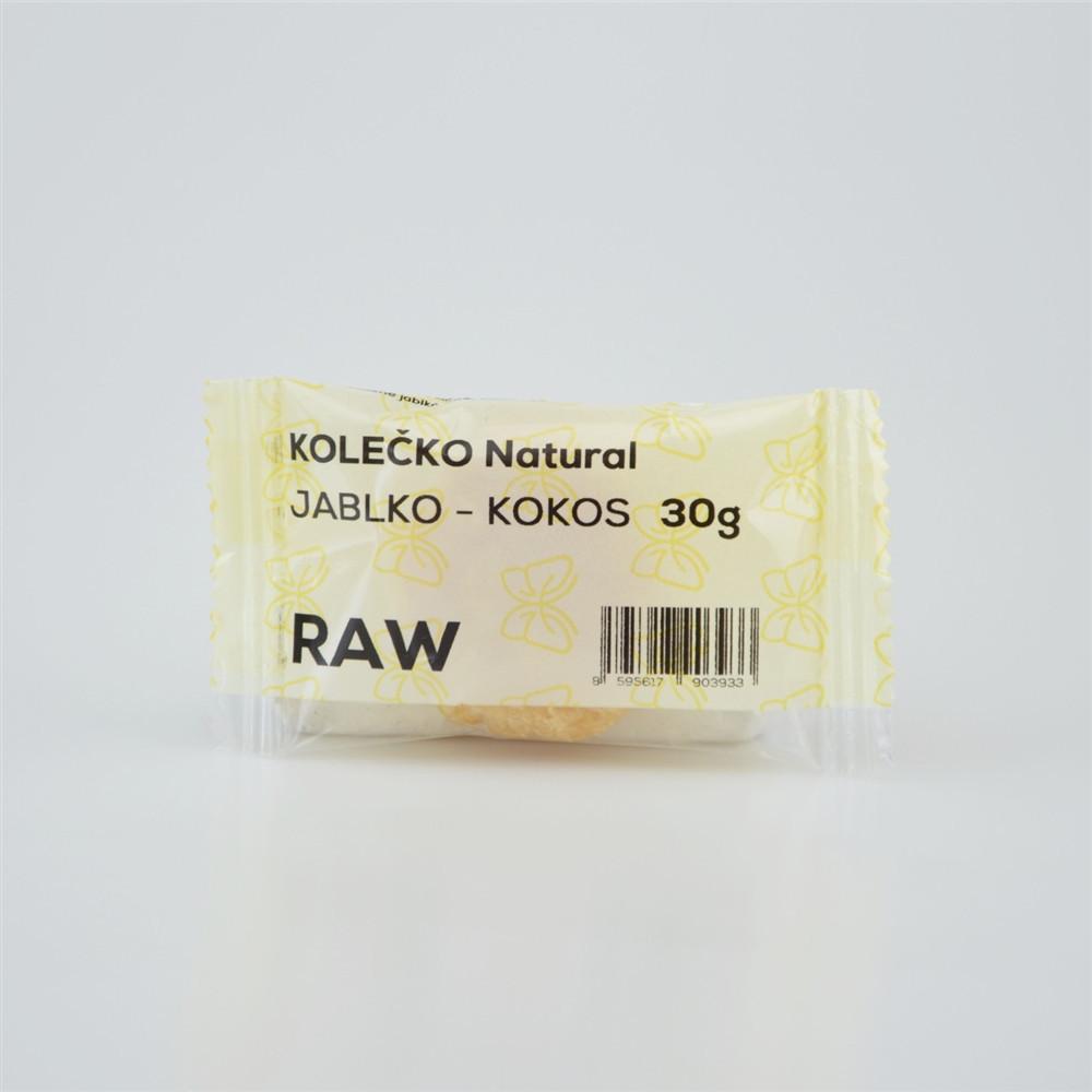 RAW kolečko jablko - kokos - Natural 30g