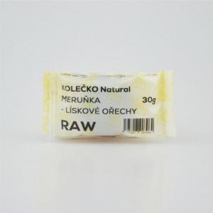 RAW kolečko meruňka - lískové ořechy - Natural 30g