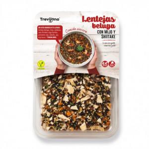 Čočka Beluga s jáhlami a houbami shitake  (4 porce) - Trevijano 210g