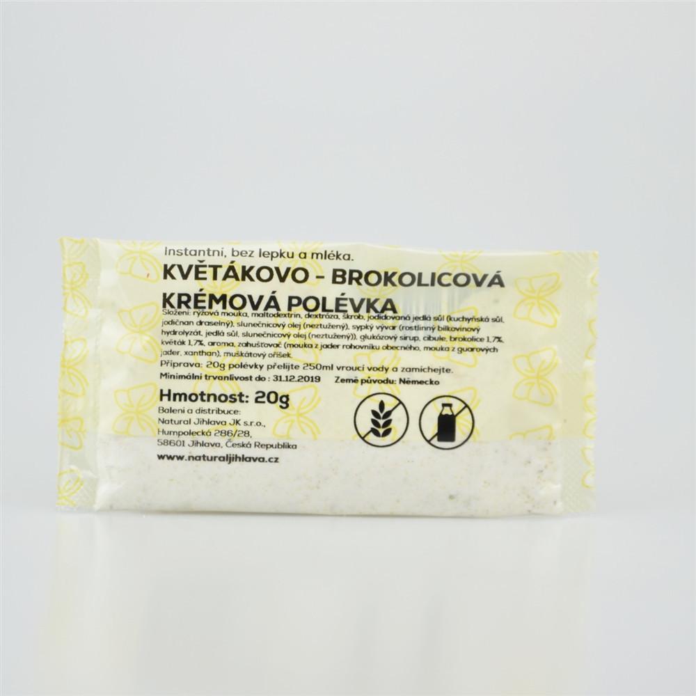 Instantní krémová květákovo-brokolicová polévka bez lepku a mléka - Natural 20g