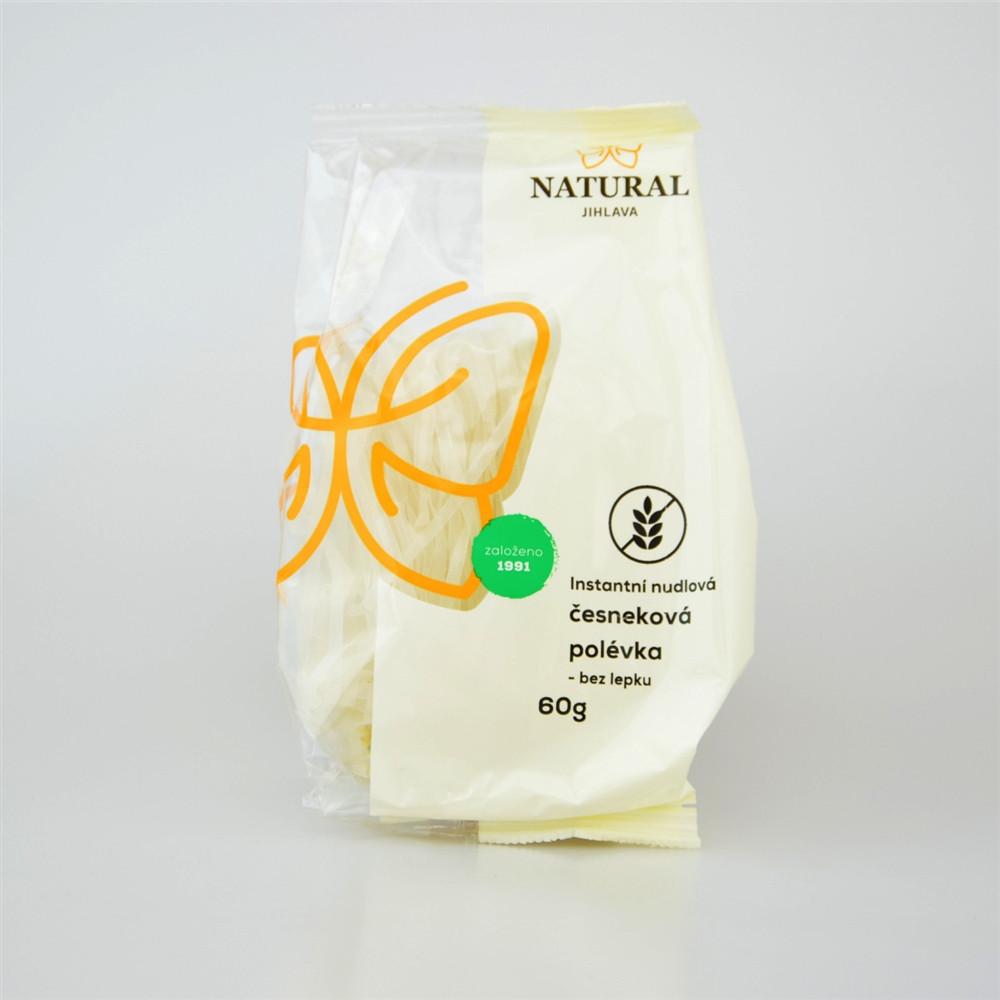 Instantní nudlová česneková polévka bez lepku - Natural 60g