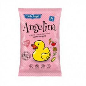 BIO kukuřičný snack Angelina s mrkví a jablkem 60g
