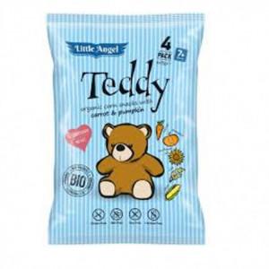 BIO kukuřičný snack Teddy s mrkví a dýní 60g