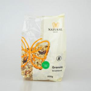 Granola brusinková bez lepku - Natural 200g