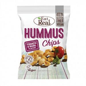 Hummus chips rajče a bazalka - Eat Real 45g